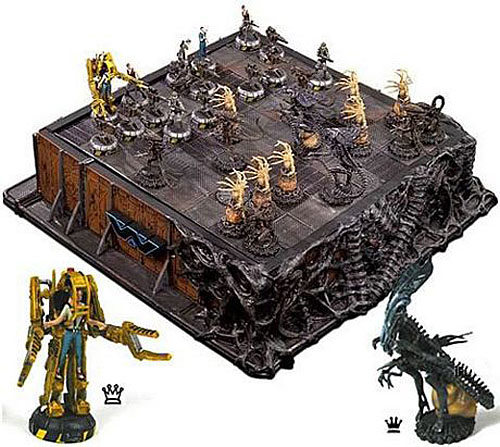 Alien Vs Predator Wallpaper Chess Set