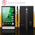 Zune Contact Cell Phone Concept – iPhone Watch Your Back