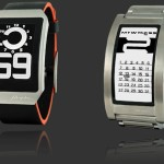 Phosphor curved E-Ink watches