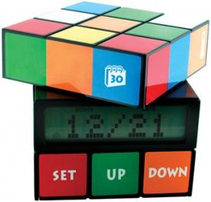 80s Rubik Cuble Clock