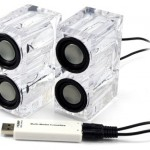 USB Crystal Speakers – Clear Sound