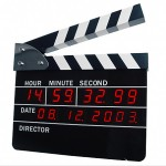 Clapboard Alarm Clock – Time For Some Action