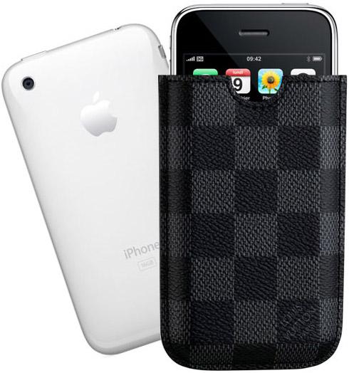 Louise Vuitton Damier Graphite iPhone Case