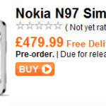 Nokia N97 Available For Pre-Order