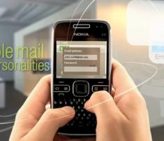 Nokia E72 Video