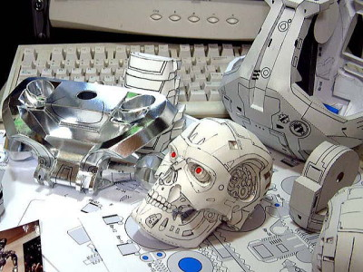 TERMINATOR T800 Endoskeleton Paper Craft Model 5