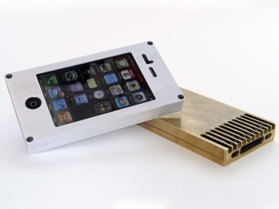 EXOvault Brass & Aluminum iPhone Case