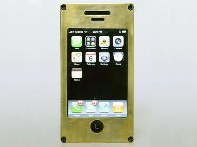 EXOvault Brass iPhone Case