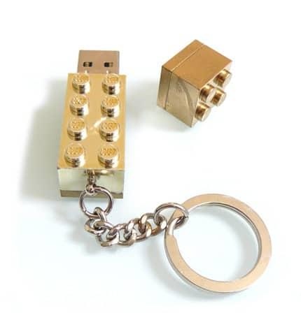 Gold Lego USB Drive 2