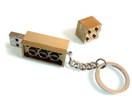 Gold Lego USB Drive 3