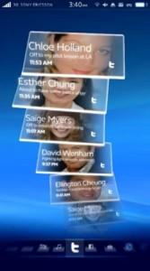 Sony Ericsson Rachael interface